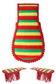 Schouder epaulette rood/geel/groen