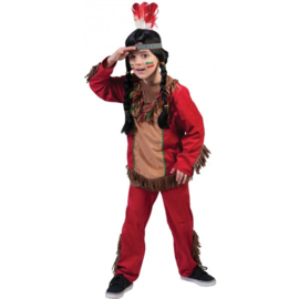 Indianen boy kostuum Red hawk