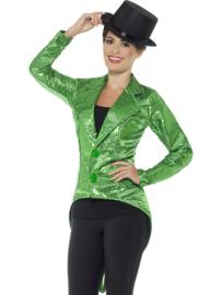 Slipjas pailletten dames groen