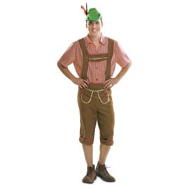 Oktoberfest kostuum tiroler lichtbruin