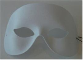 Oogmasker kinloos wit