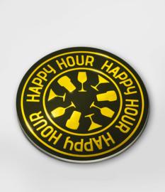 Glossy onderzetters Happy hour