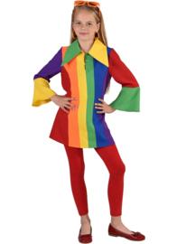 Regenboog jurkje luxe
