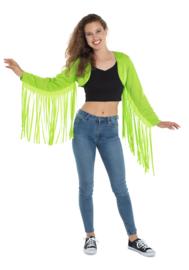 Bolero fringe neon groen
