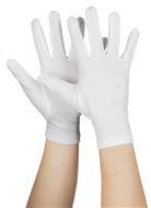 Handschoen kort basic wit