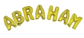Ballonset 38cm met lint Abraham Goud