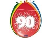 Ballonnen 90 jaar (assorti kleuren)