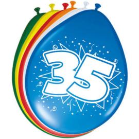 Ballonnen 35 jaar (assorti kleuren)