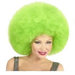 Pruik afro extra groot groen