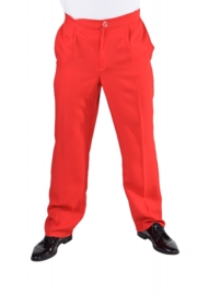 Pantalon rood | Feestkleding heren | Goedkope Feestkleding