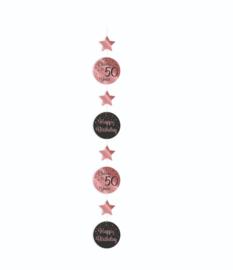 Hanging decoration rose/black - 50 | Hangdeco