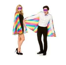 Cape en masker regenboog