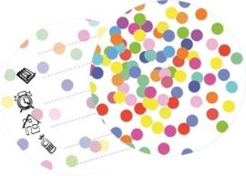 Uitnodigingskaarten confetti