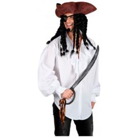 Piraten shirt luxe wit