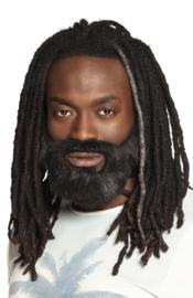 Rasta baard zwart
