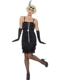 Flapper jurkje zwart