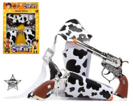 Cowboy koe holster  | 2 pistolen