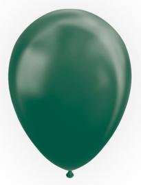 Kwaliteitsballon metallic groen 50 stuks