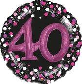 Folieballon sparkling pink 3D 40 (81cm)
