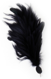Verenpluim zwart 30cm clip