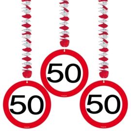 Hangdecoratie Verkeersbord 50 jaar