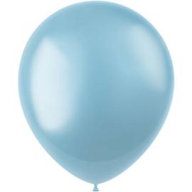 Ballonnen Radiant Sky Blue Metallic 33cm - 50 stuks