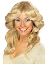 Charlie angels pruik 70`s blond