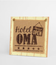 Wooden sign - Oma |