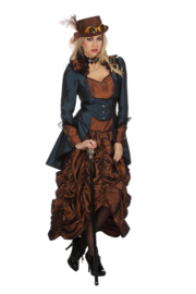 Steampunk jurk blue