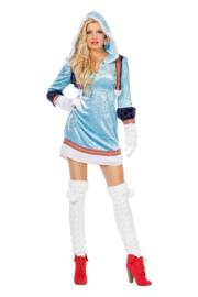Eskimo jurkje dame blauw
