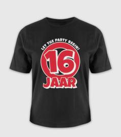 Leeftijd shirt - 16 jaar