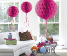 Honeycomb deco hotpink