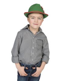 Tiroler jongens shirt zwart en wit