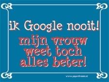 Metalen bord -- Google
