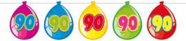 Vlaggenlijn ballonnen 90 jaar