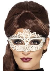 Witte kanten oogmasker