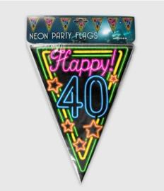 Vlaggenlijn neon 10 meter | 40 jaar