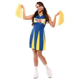 Cheerleader jurkje geel blauw