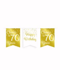 Party vlaggenlijn goud/wit - 70