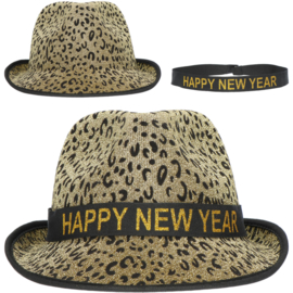 Panter print happy new year hoedje