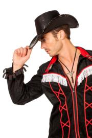 Cowboy hoed paillet zwart