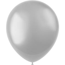 Ballonnen Moondust Silver Metallic 33cm - 50 stuks