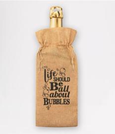 Bottle gift bag - Bubbles