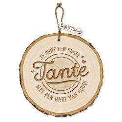 Boomschijf decoratie - Tante  