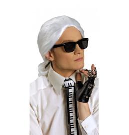 Pruik Karl Lagerfeld