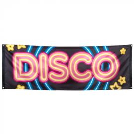 Polyester banner 'Disco' (74 x 220 cm)