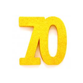 Tafel decoratie goud 70