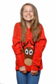 Kerst trui rood rendieren kinderen