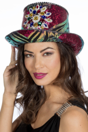 Hoge hoed Burning Man Flower