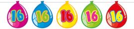 Vlaggenlijn ballonnen 16 jaar
